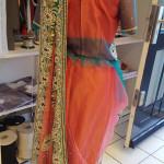 Indiase Sari op maat achterkant