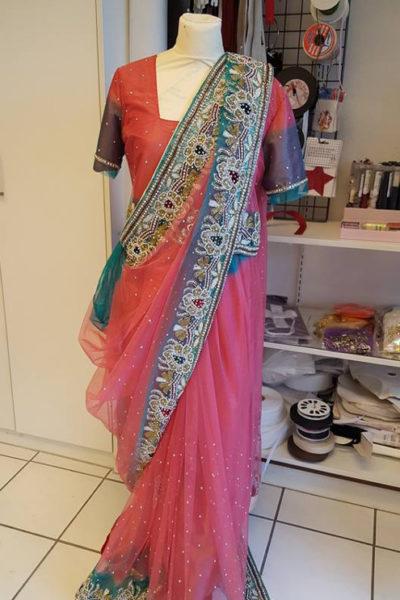 Indiase Sari op maat vooraanzicht